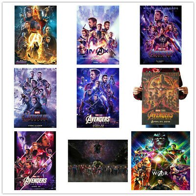 Avengers 4 & 3 Infinity War Movie Thanos Iron Man Kraft Paper Posters Picture