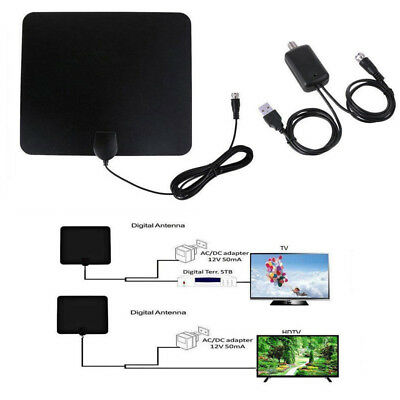 Digital HD 200 Mile Range Skywire TV Indoor 1080P 4K 16ft Coax Cable Antenna TV