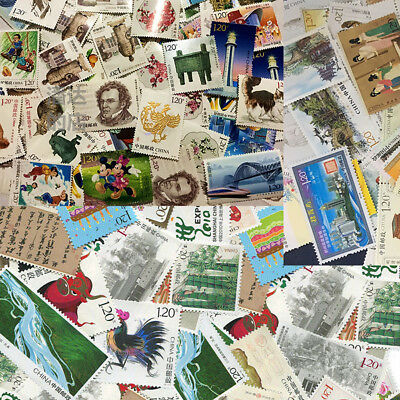 Chinese Postage Collection Bunch Lot Stamps Paper Assorted DIFFERENT SHEET