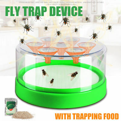 Drosophila Fly Trap Top Catcher Fly Wasp Insect Bug Pest Killer + Trapping Food