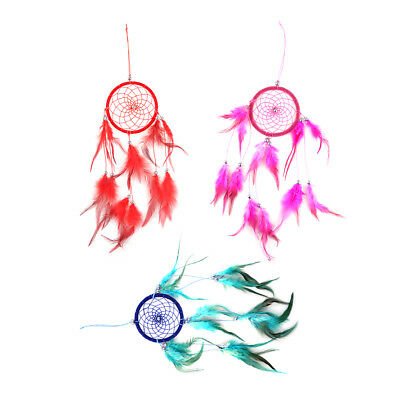 India Style Handmade Dream Catcher Ornament with Feathers Beads Wall Hanging