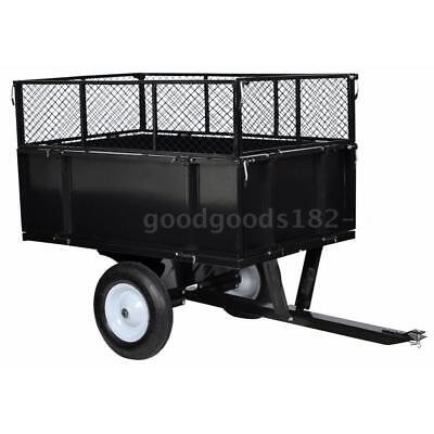 Lawn Tractor Trolley 300 kg Cart Wagon Wheelbarrow Tipping Trailer Carrier V4J4