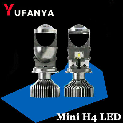 LED Headlights Mini H4(9003) Bi LED Projector Lens CSP Chips 60W Car Motorcycle