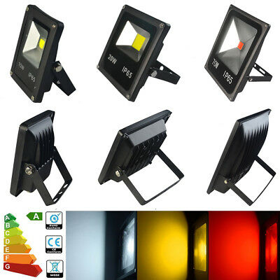 10-70W 20W 30W 50W  LED Floodlight Security Work Lamp Light Indoor Outdoor UK