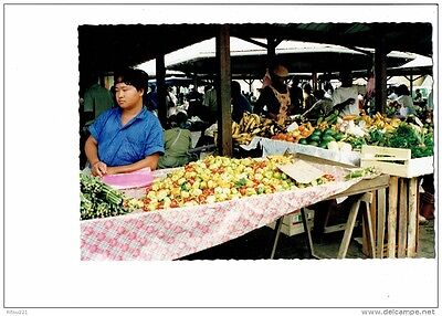 cpm Guyane CAYENNE 1992 marché couvert stand HMONG Marchand banane avocat piment