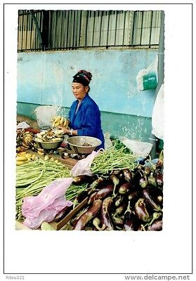 cpm Guyane CAYENNE 1992 marché couvert stand HMONG Femme marchande balance