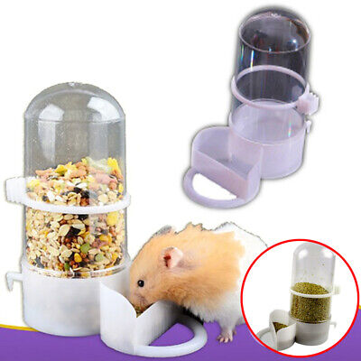 Automatic Pet Hamster Rabbit Food Water Bowl Bottle Dog Bottle Dispenser Feeder