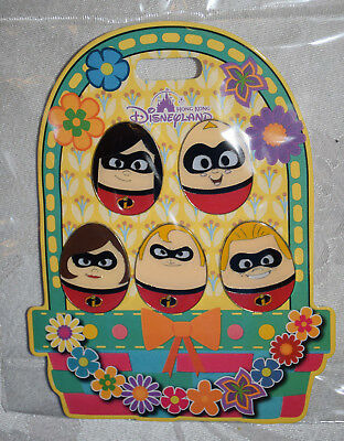 Disney Pin 128794 HKDL - Easter Eggs - The Incredibles 5 Pin Booster Pack Set