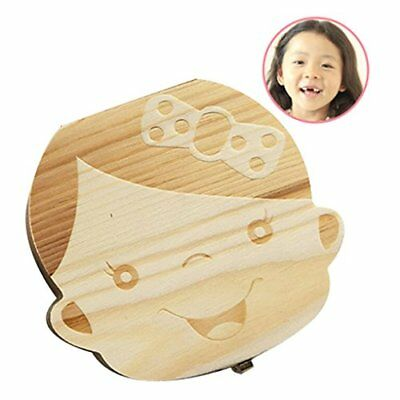Baby Tooth Box First Curl Haircut Keepsake Fairy Wooden Personalized Holder girl