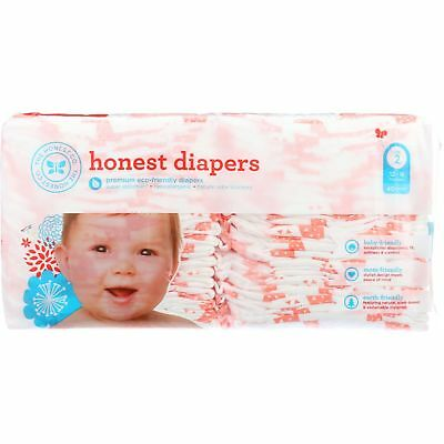 The Honest Company Diapers - Giraffes - Size 2 - Babies 12 to 18 lbs - 40 cou...
