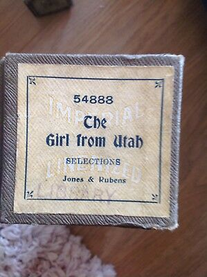 Th Girl from Utah  - Pianola roll