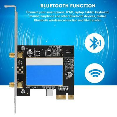 For Intel 7256 Wireless-AC Dual-Band 867Mbps Bluetooth WiFi Network Card PCI-E