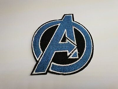 Quality Iron/Sew on AVENGERS LOGO Patch shield marvel comics infinity war gotg