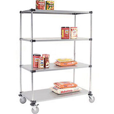 Stainless Steel Shelf Truck, 36x24x80, 1200 Lb. Capacity with Brakes, Lot of 1