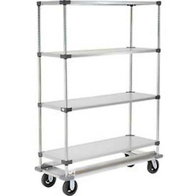 Stainless Steel Shelf Truck, 48x18x92, 1200 Lb. Capacity with Brakes, Lot of 1