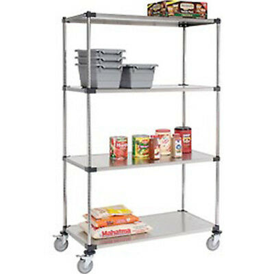 Stainless Steel Shelf Truck, 48x24x80, 1200 Lb. Capacity with Brakes, Lot of 1
