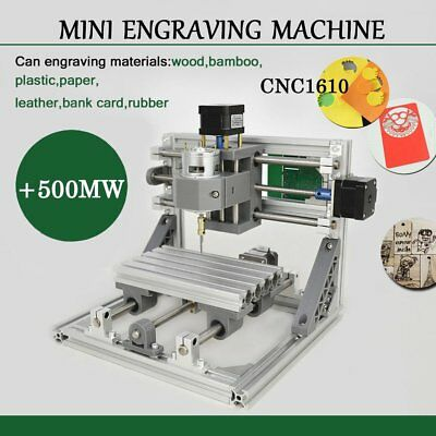 Mini CNC 1610 500mw laser CNC engraving machine Pcb Milling wood router B2