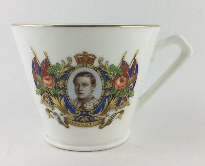 Souvenir Cup Made in England Crown Coronation Edward VIII 1937