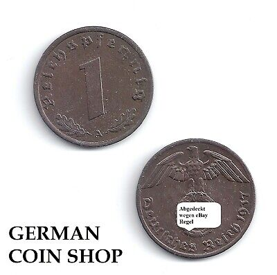 1 Reichspfennig Copper 1936-1940 a B D E F G J - Please Select - Third Reich