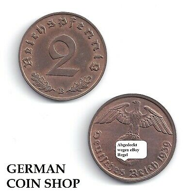 2 Reichspfennig Copper 1936-1940 a B D E F G J - Please Select - Third Reich