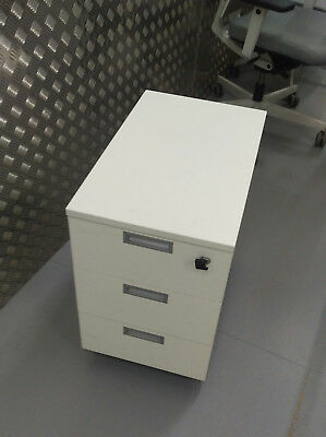 office filing cabinet  pedestal white with 3 drawer Lock key