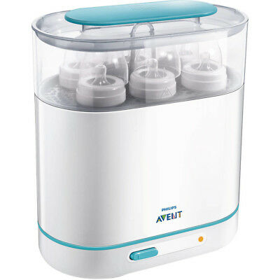 Electric Steam Sterilizer, BPA-Free Baby Bottle Cleaner Philips AVENT 3-in-1 NEW