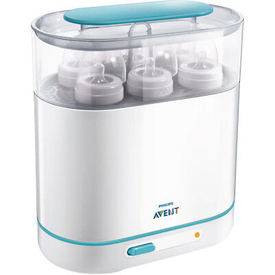 Electric Steam Sterilizer BPA Free Baby Bottle Cleaner Philips AVENT 3 in 1 NEW