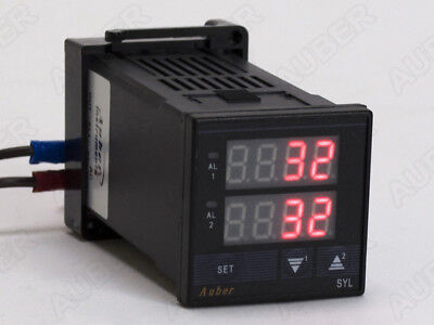1/16 DIN Dual Channel Temperature Meter For Brew Panel