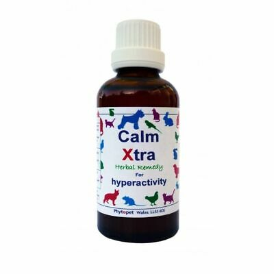 Phytopet Calm Xtra Herbal Remedy Stress Anxiety Hyperactivity Pets Dog Cat 30ml
