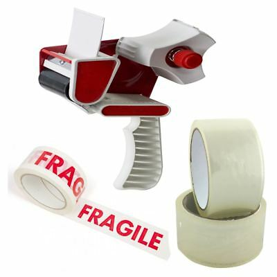 "Tape Dispenser Gun Packaging 2"" 3"" Fragile Or Clear 48mm Tapes High Quality 4U"