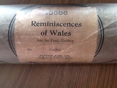 Reminiscences of Wales - Pianola roll