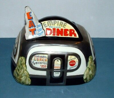 Vintage L.e. Empire Diner Cookie Jar - Henry Cavanagh - 1994 - Used Condition
