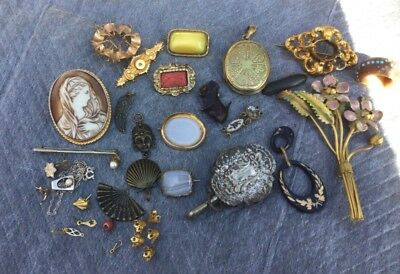 Antique & Vintage Job Lot Of Jewellery for Spares/Repairs