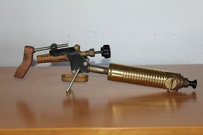 New Vintage Antique Brass Fuel Gasoline Blow Torch G.barthel Made In Germany