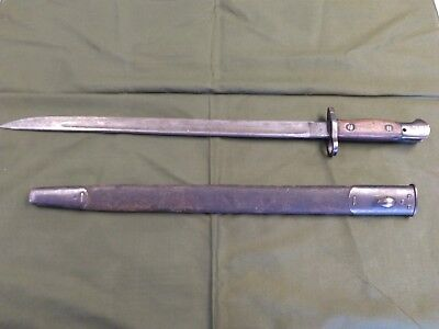 WWI Endfield Wilkinson Bayonet with Scabbard - Only 2 Original Owners