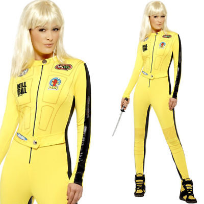 Licensed Kill Bill Outfit Official Ladies Uma Thurman Killer Yellow Smiffy 20500