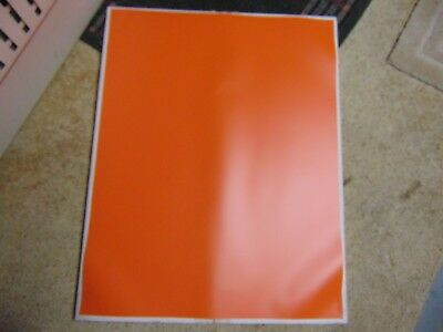 Lot Of 5 Color Lok Orange Vinyl Masking Sheets / 22X28