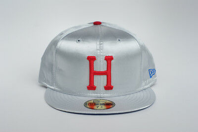 Vintage Huf 7   5 8 Silver Satin New Era 59Fity Limited Release Fitted Hat c047a6ea94455