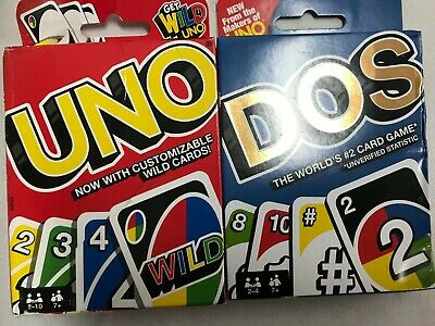 Mattel Uno Dos Card Game-UNO CARDS      LOT OF 2
