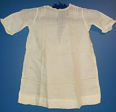 VINTAGE ANTIQUE BABY/CHILD'S CLOTHING LIGHT-WEIGHT GOWN/DRESS with LACE TRIM