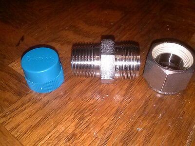 "Swagelok SS-810-1-6,  1/2"" tube x 3/8 NPT ,several availiable"