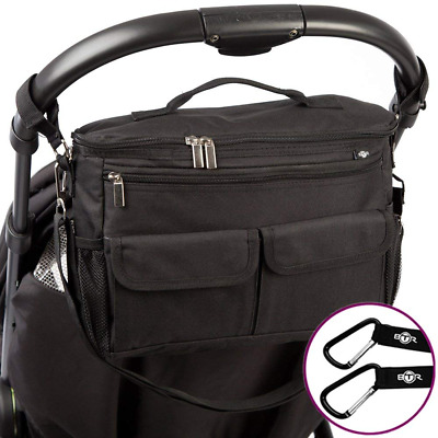 BTR Buggy Organiser Bag & Pram Plus 2 x Hooks/Clips. Makes The Perfect and Acces