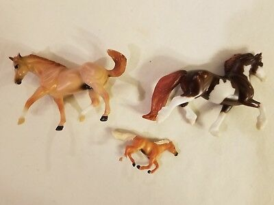 Vintage Breyer Reeves Lot Of 3 Miniature Horses Free Shipping
