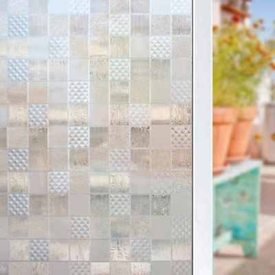 3D Static Window Film Reusable Decor Glass Door Cling No-Glue Privacy Protection