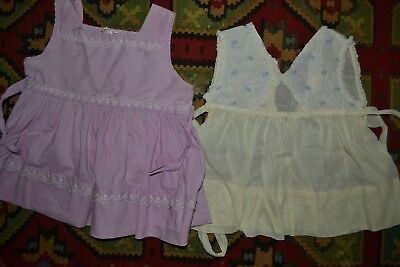 Vintage 1950's toddler baby girl dress purple lace sheer yellow embroidery
