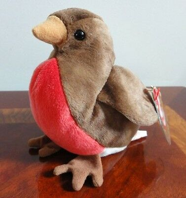 Ty Beanie Babies Baby Early Red Breasted Robin Bird  Mwmt Dob March 20 1997