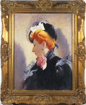 OIL ON BOARD PORTRAIT OF WOMAN. EARLY 20th CENTURY. ( Dated Verso 1907 ). FRAMED