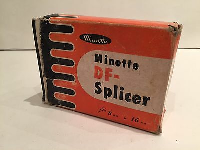 VINTAGE MINETTE DF-SPLICER FOR 8mm & 16mm CINE CAMERA FILM MADE IN JAPAN - BOXED