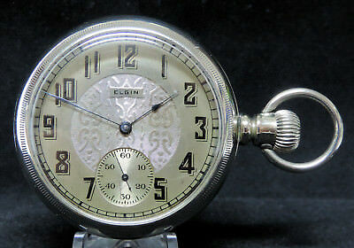 1889 Elgin 16 Size 15 Jewels, Fancy Dial, Early Railroad Grade, Just Serviced!