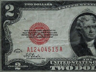 1928 $2 United States Note - A12404515A